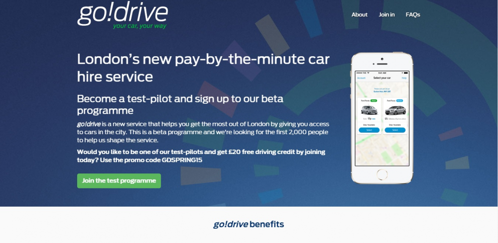 Ford go! Drive: υπηρεσία ενοικίασης αυτοκινήτου στο Λονδίνο