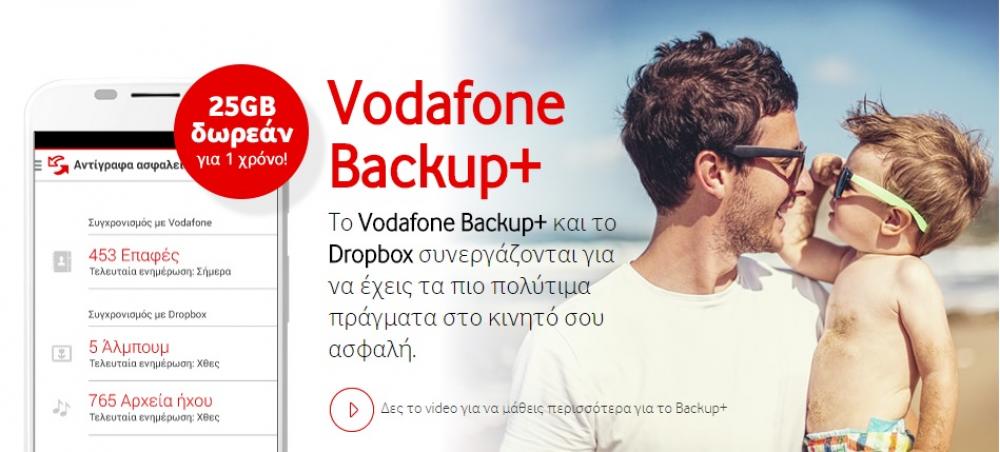 Vodafone Backup+ σε συνεργασία με το Dropbox