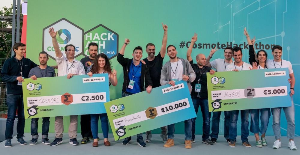 Cosmote Hackathon: σε εφαρμογές υγείας, design και προστασίας περιβάλλοντος τα μεγάλα βραβεία