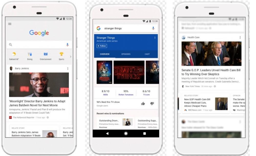 Ήρθε το νέο feed της Google