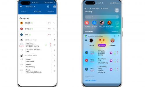Ζωντανά αποτελέσματα αγώνων esports μέσω Huawei Assistant