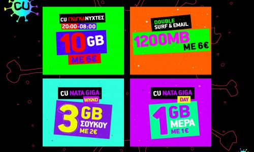 Περισσότερα gigabytes από το CU