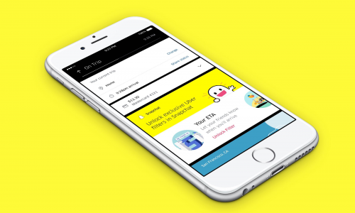 Snapchat φίλτρα μέσα από την εφαρμογή της Uber στην Ελλάδα