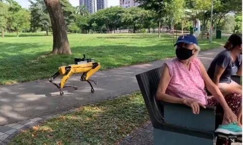 Tα ρομπότ της Boston Dynamics περιφρουρούν τα πάρκα της Σιγκαπούρης