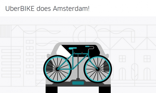 Uber + ποδήλατο στο Άμστερνταμ