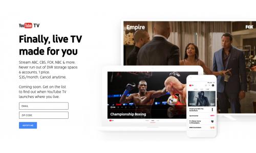 Αύξηση παγίου για το YouTube TV