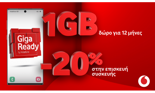 Vodafone: νέο πακέτο προνομίων για συνδρομητές Giga Ready