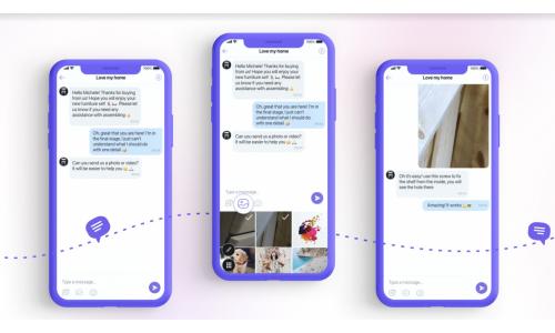 Viber: επικοινωνία χρηστών με επιχειρήσεις με φωτογραφίες και βίντεο