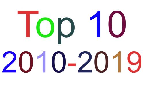 Το Τοπ 10 της δεκαετίας των 2010s