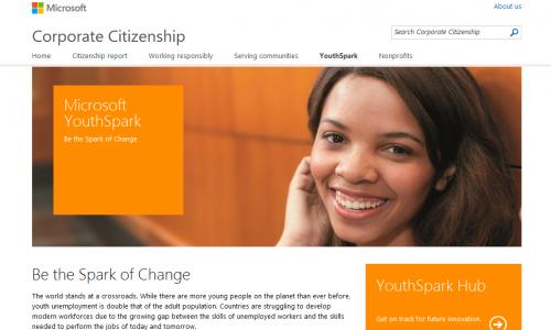 Microsoft YouthSpark: ευκαιρίες για 300 εκατομμύρια νέους